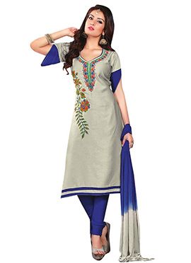 Beige Cotton Churidar Suit