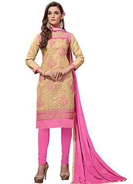 Beige Cotton Salwar Suit