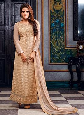 Beige Georgette Pakistani Suit