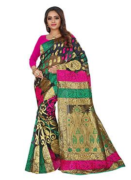 Benarasi Jacquard Multicolored Saree