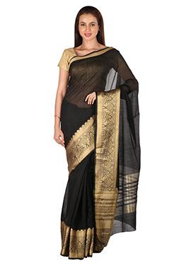 Benarasi Silk Black Designed Border Saree
