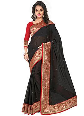 Black Chiffon Saree