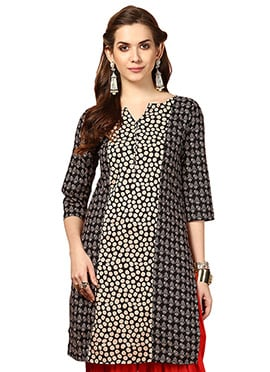 Black Cotton kurti from Home India