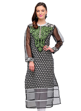 Black Home India Printed Kurti