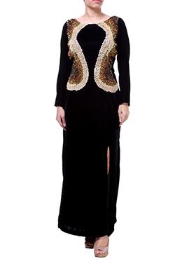 Black Label ISHI Side Slit Gown