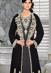 Black N Grey Plus Size Fustan Dress
