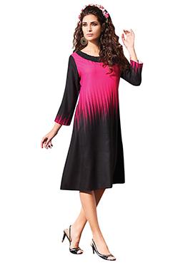 Black N Pink Printed Tunics