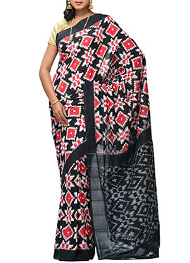 Black N Red Handloom Cotton Uppada Saree