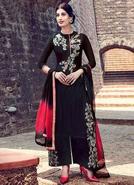 Black Palazzo Suit