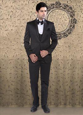 Black Satin Suit