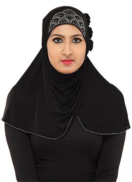 Black Stone Enhanced Hijab