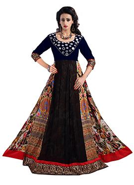 Blue Anarkali Gown