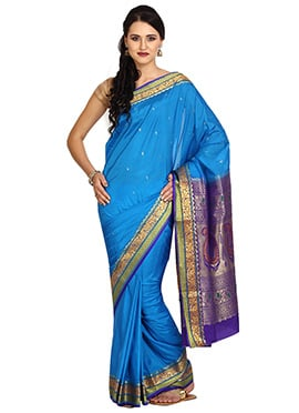 Blue Art Silk Saree