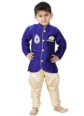 Blue Breeches Style Kurta Pyjama