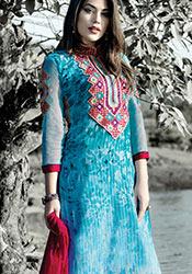 Blue Georgette Pakistani Suit