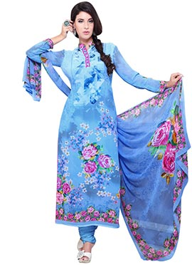 Blue Georgette Salwar