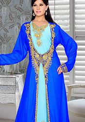 Blue N Turquoise Plus Size Fustan Dress