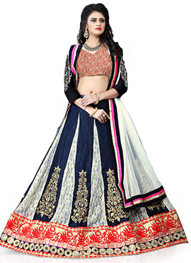 Blue N White Lehenga Choli