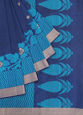 Blue Pure Silk Pothys Saree
