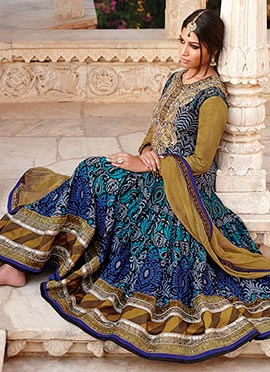 Blue Shade Heavy Anarkali Suit