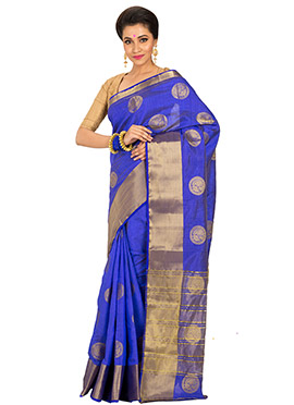 Blue Zari Saree
