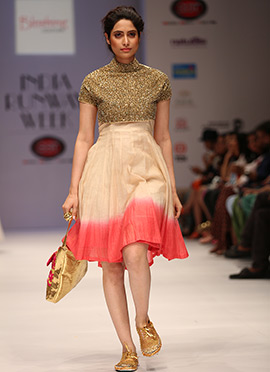 Blushing Couture Multicolored Midi Dress