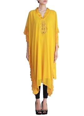Bright Yellow Shanaya Kaftan