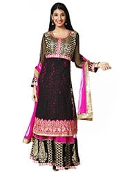 Embroidered Layered Ankle Length Anarkali