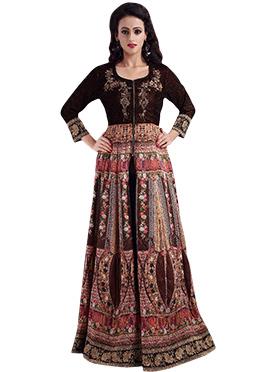 Brown Anarkali Gown