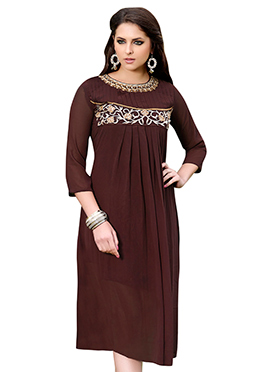 Brown Georgette Kurti