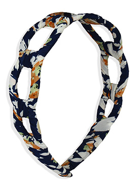 Carved Printed Multicolored Hair Band