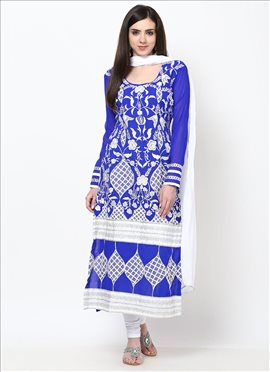 Catchy Georgette Straight Suit