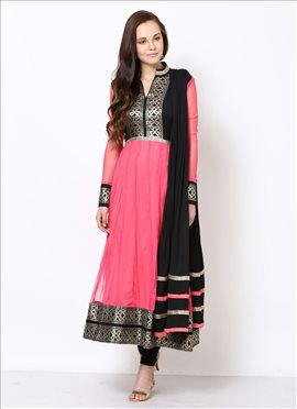 Charismatic Net Anarkali Suit
