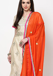 Chic Chanderi Churidar Suit