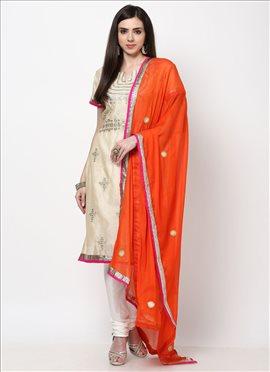 Chic Chanderi Churidar Suit