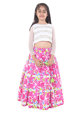 Chiquitita Crop Top Style Blouse With Skirt