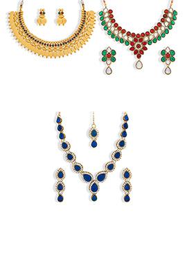 Combo 3 Pieces Necklace Set