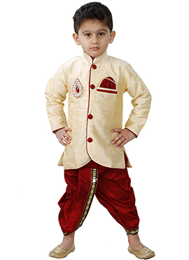 Combo Of Cream Kurta Pyjama Set