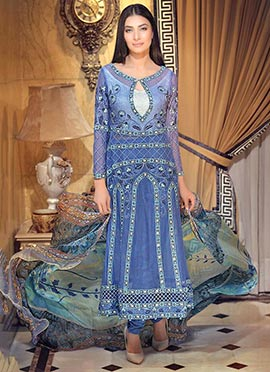 Cornflower Blue Anarkali Suit