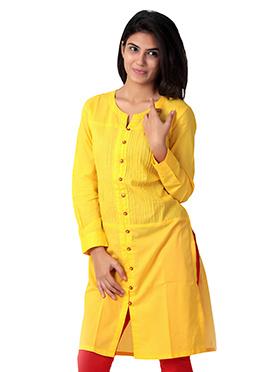 Cotton Dark Yellow Kurti