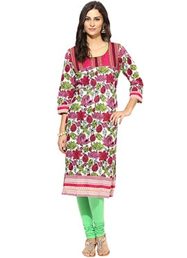 Cotton Prakhya Multicolored Printed Kurti