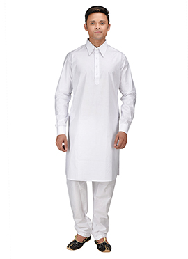 Cotton White Kurta Pyjama