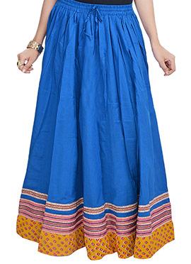Dark Blue Cotton Skirt