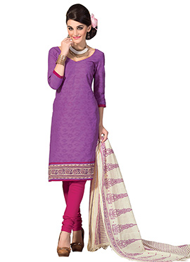 Dark Lavender Churidar Suit