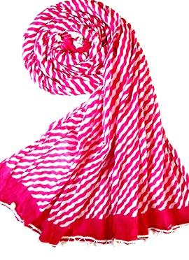 Dark Pink Raw Silk Stole