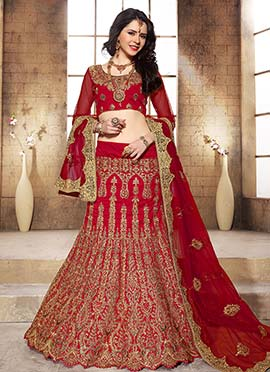 Dark Red Lehenga Choli