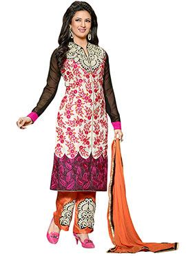 Divyanka Tripathi Multicolored Straight Pant Suit