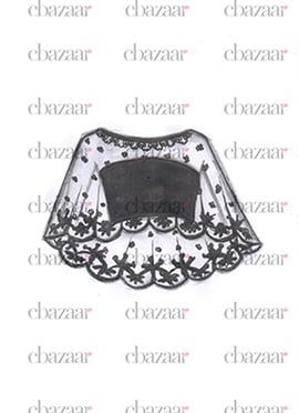 DIY Black Net N Satin Poncho Style Blouse