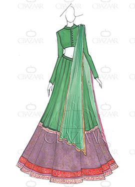 DIY PRDP Inspired Art Silk Lehenga Choli