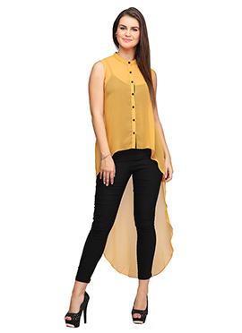 Eavan Mustard High-Low Tunic
